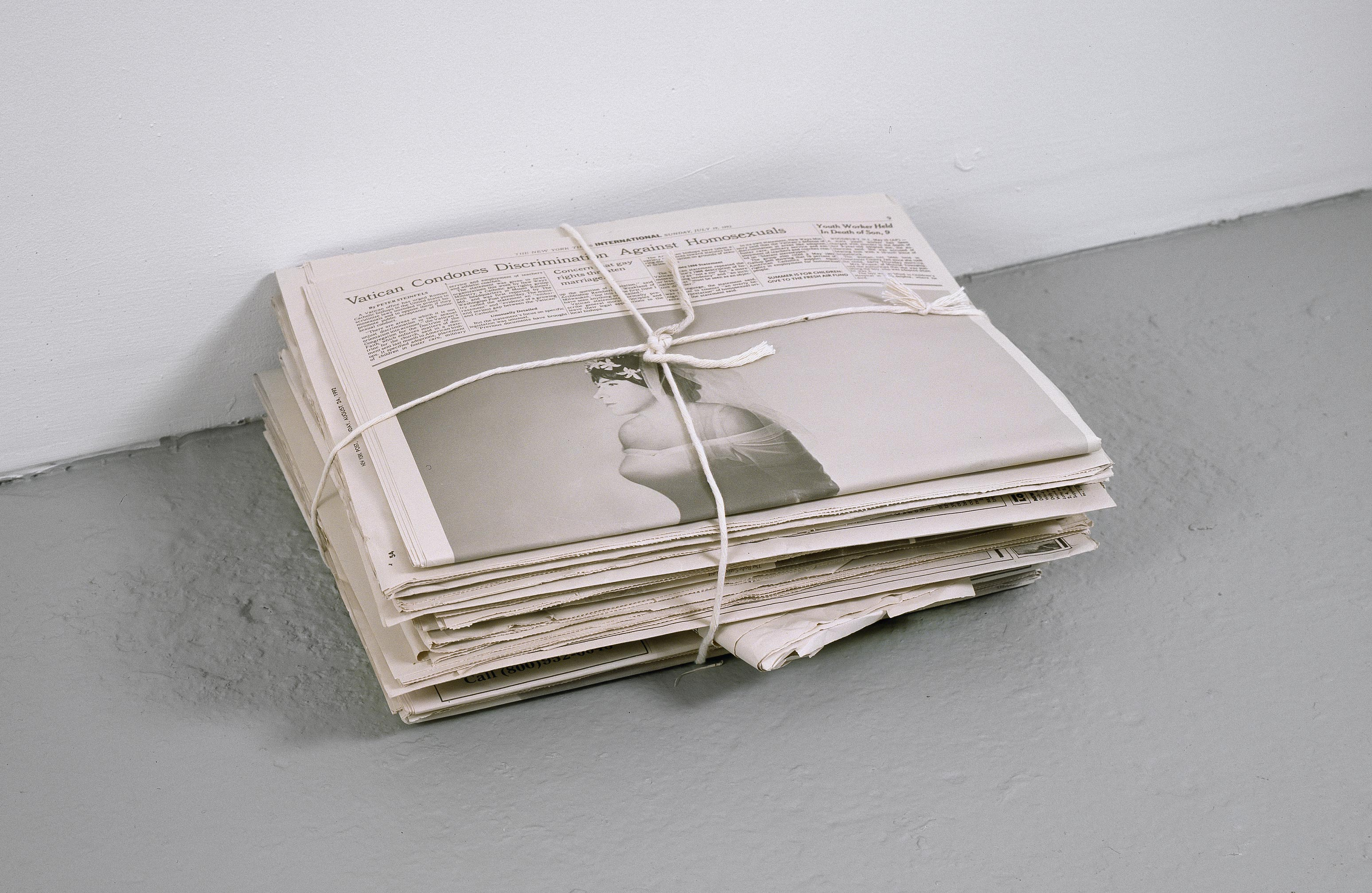 Newspaper, by Robert Gober, 1992