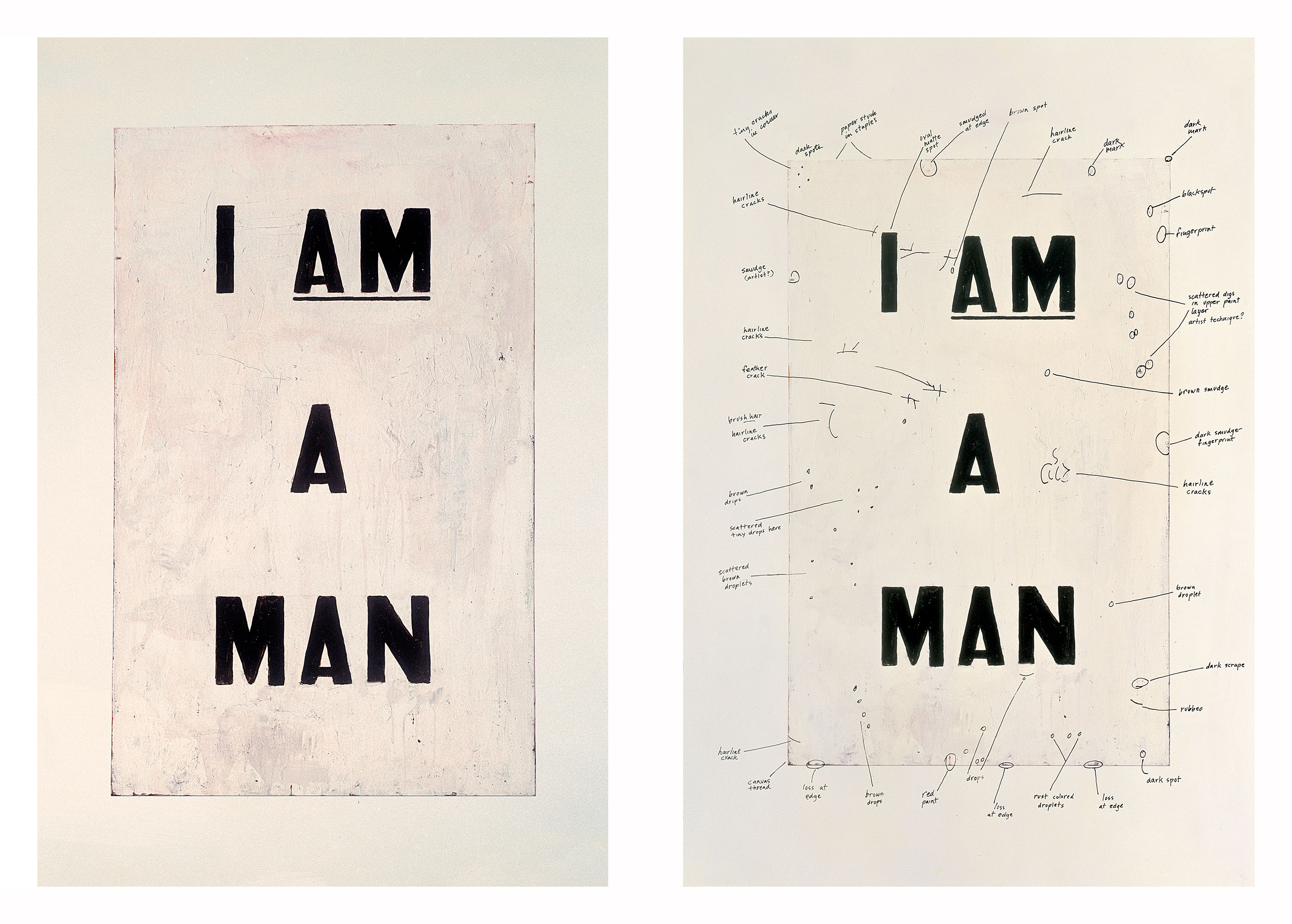 Condition Report, by Glenn Ligon, 2000