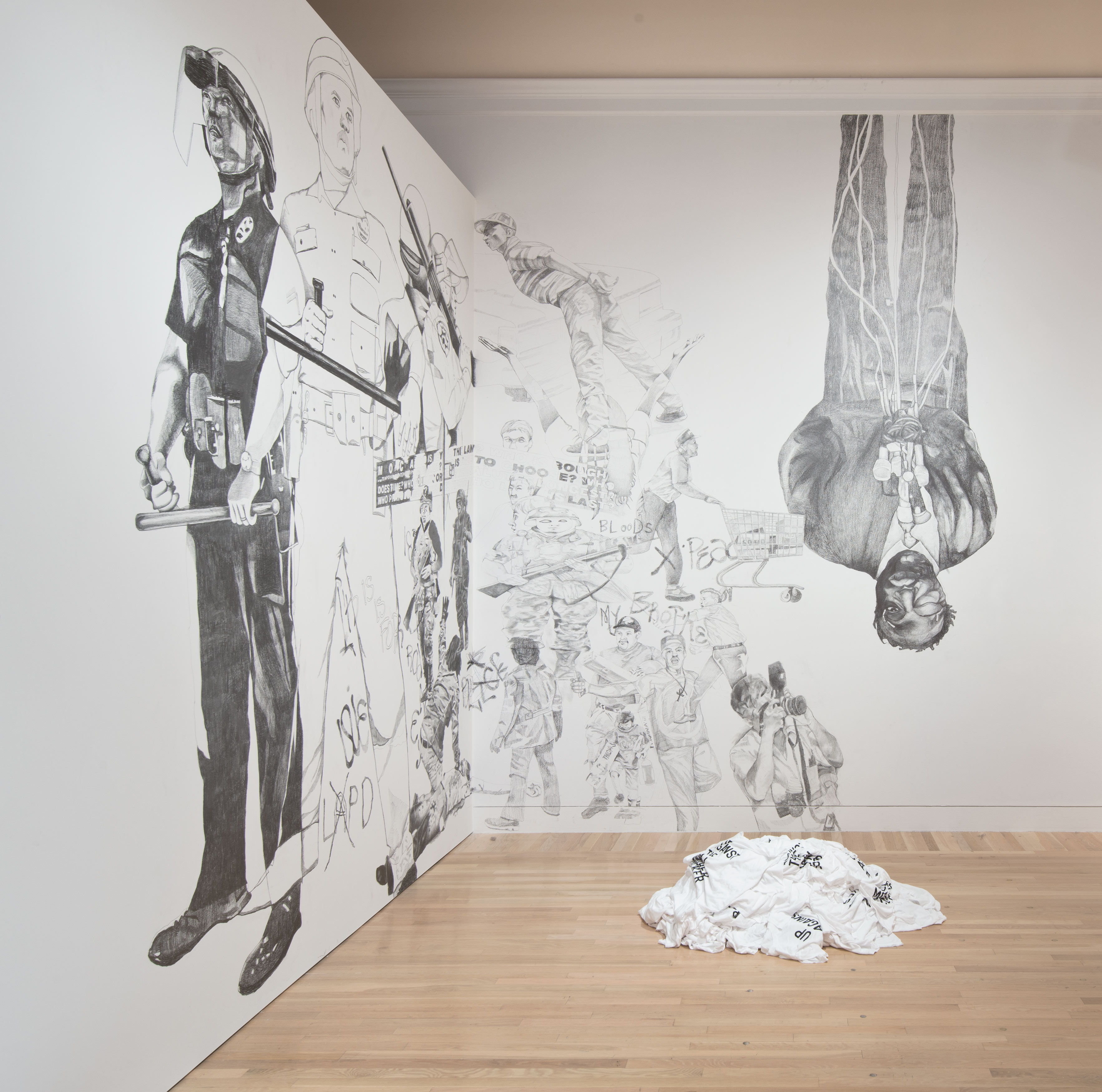 untitled 2014 (up against the wall motherfucker), by Rirkrit Tiravanija, 2014