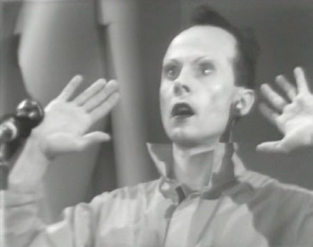 "Klaus Nomi performing on ""TV Party,"" 1979"