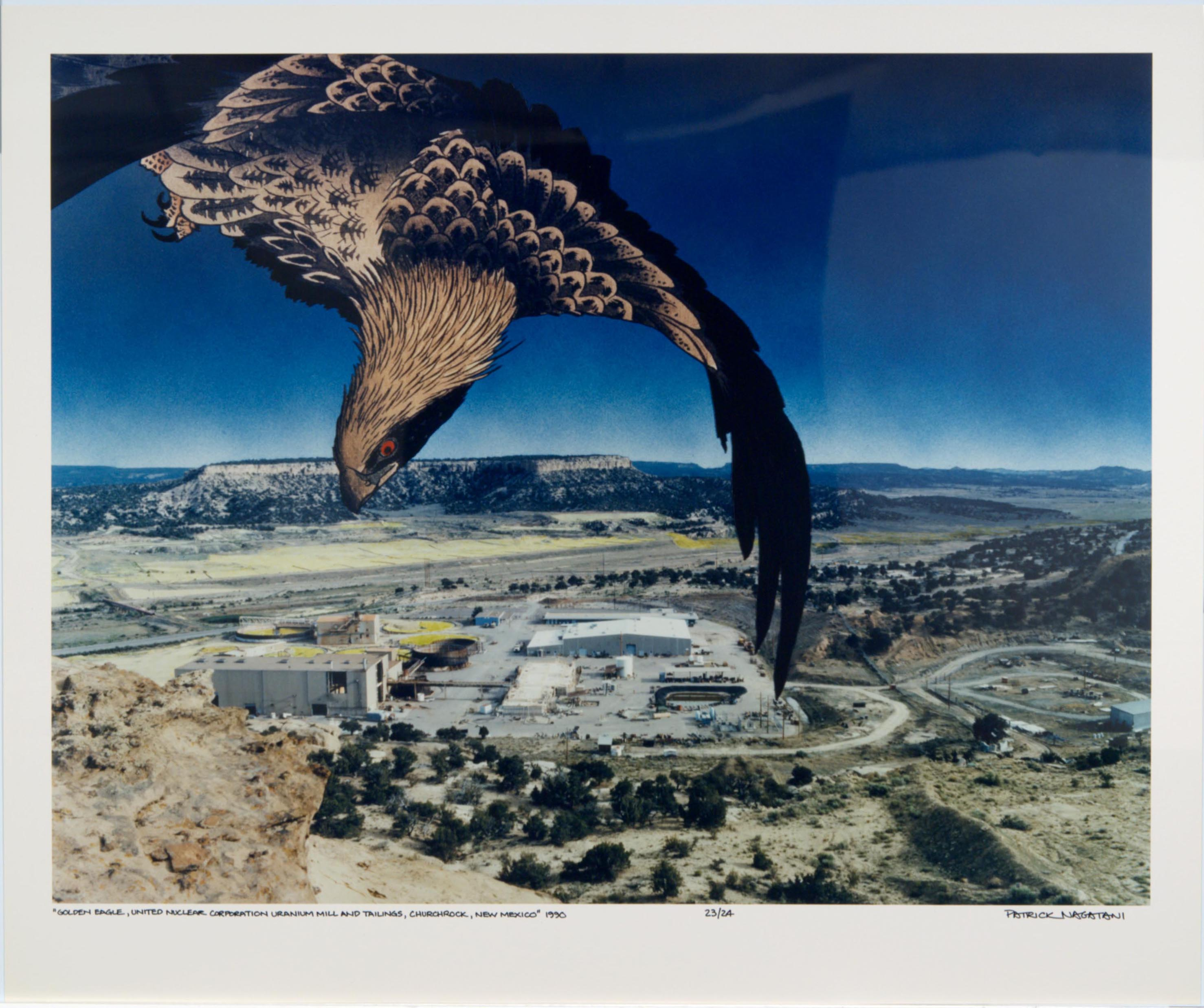 Patrick Nagatani, Golden Eagle, United Nuclear Corporation Uranium Mill and Tailings, Churchrock, New Mexico, 1991