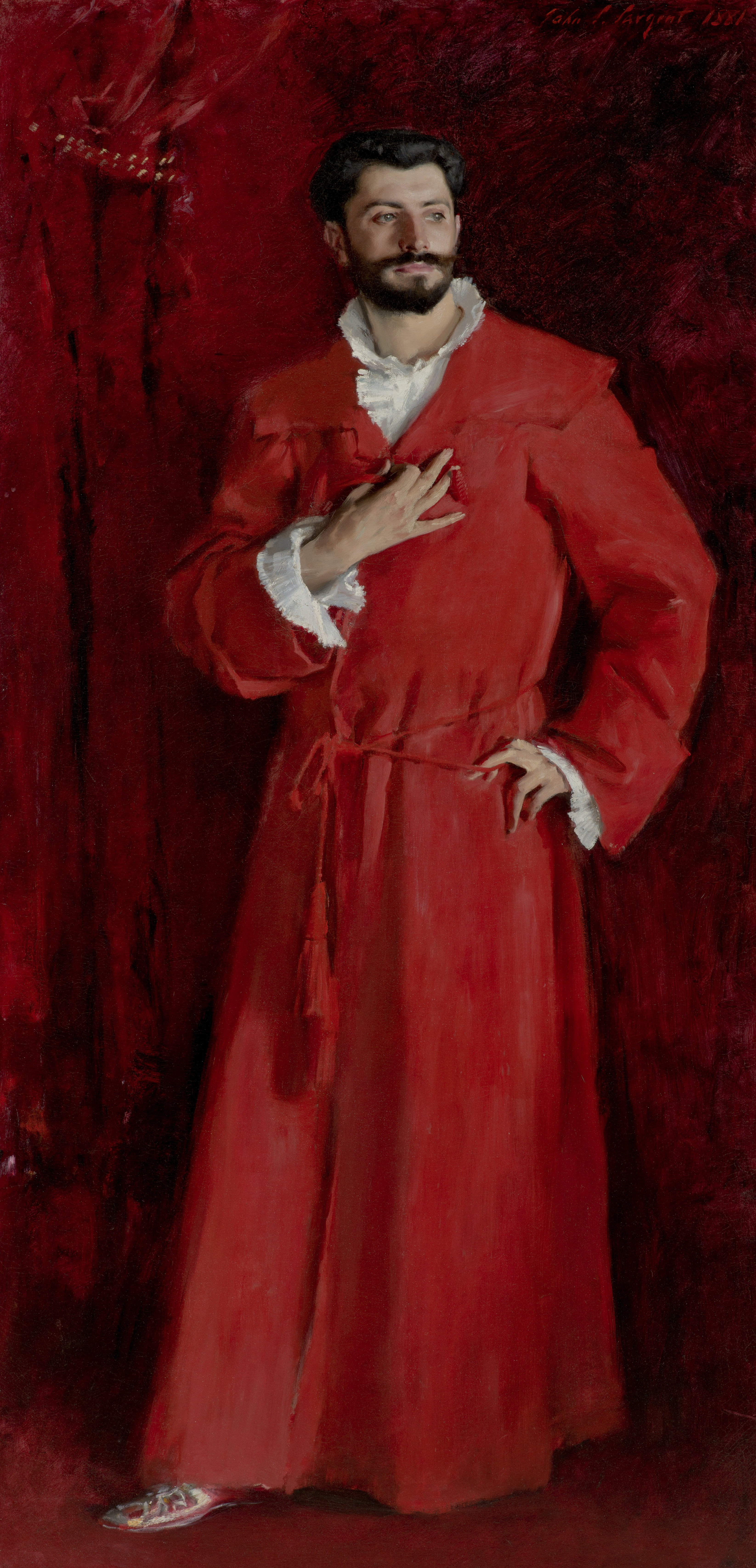 Sargent Painting Of Doctor In Red