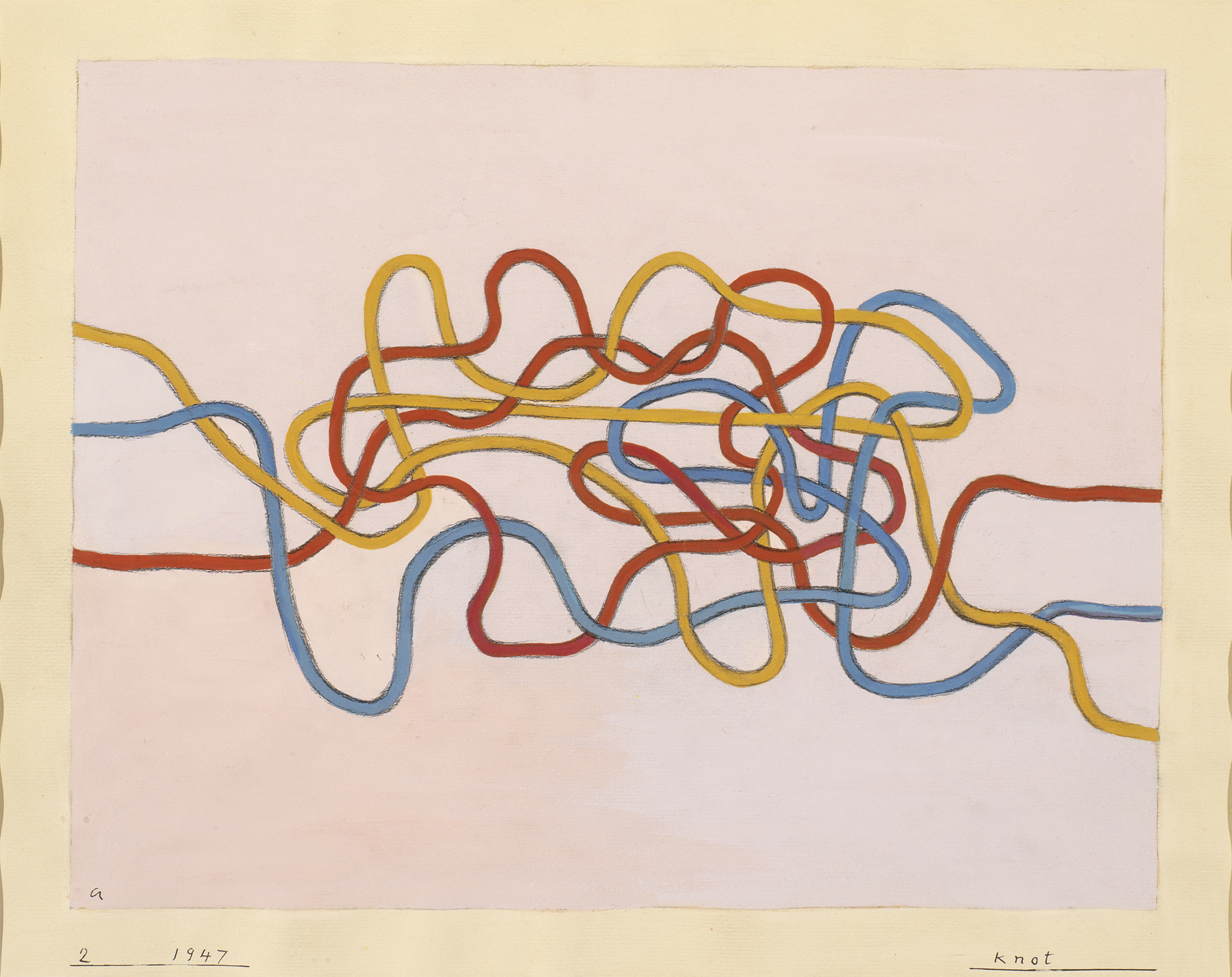leap before you look black mountain college hammer museum anni albers knot 2 1947