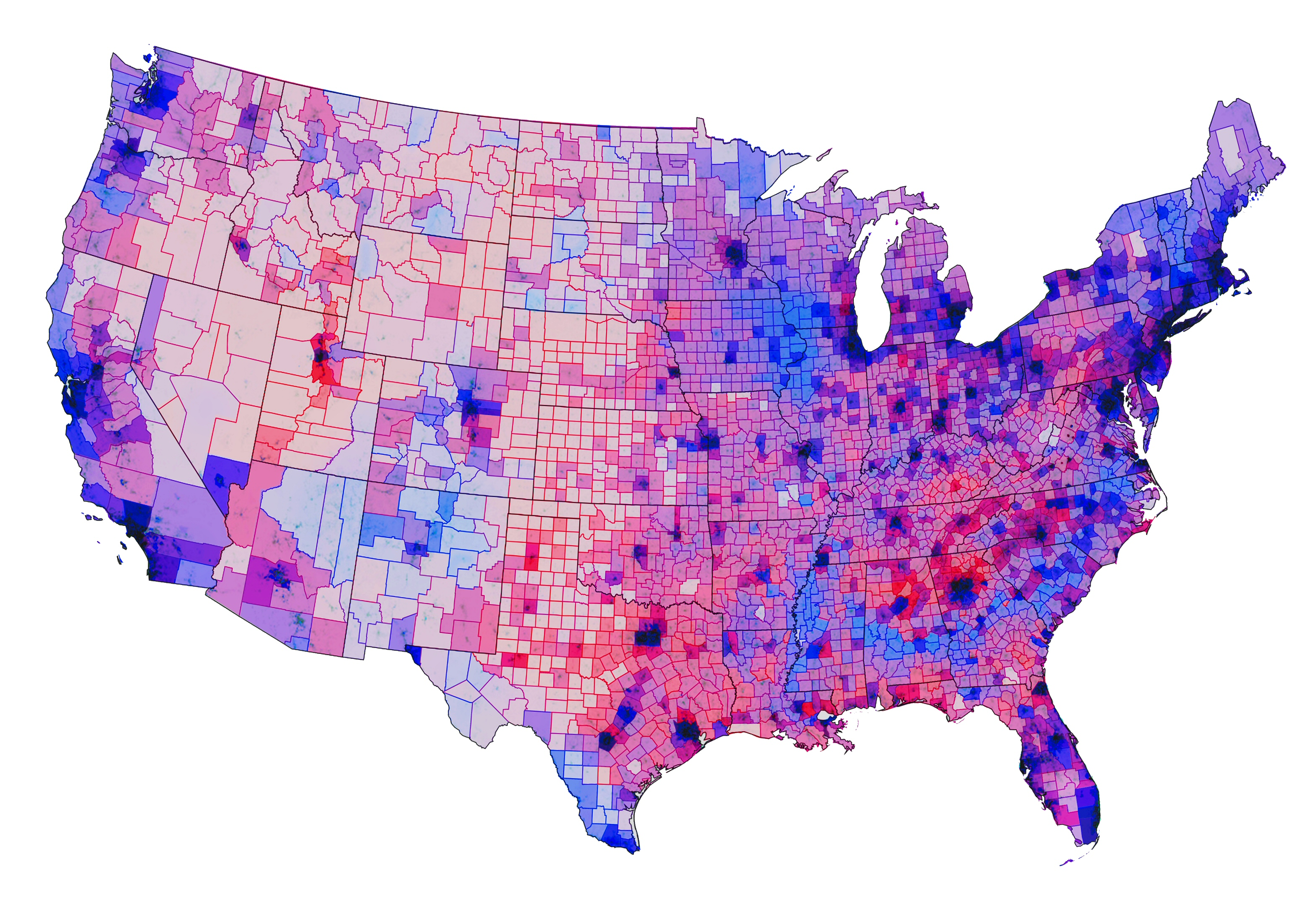 Predicting The Unpredictable The Elections Hammer Museum - 2016 us electoral map counties
