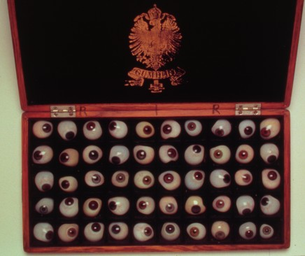 Box of glass eyes