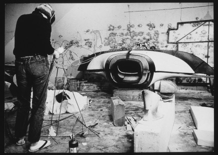 Lee Bontecou in her Wooster Street studio, New York