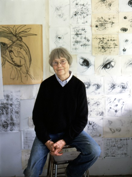 Lee Bontecou in her Pennsylvania studio