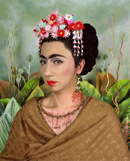 An Inner Dialogue with Frida Kahlo (Hand Shaped Earring)