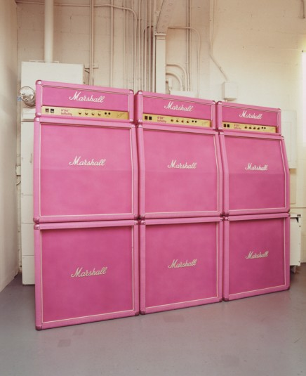 Pink Marshall Stack Wall (Three Marshall Double Stacks)