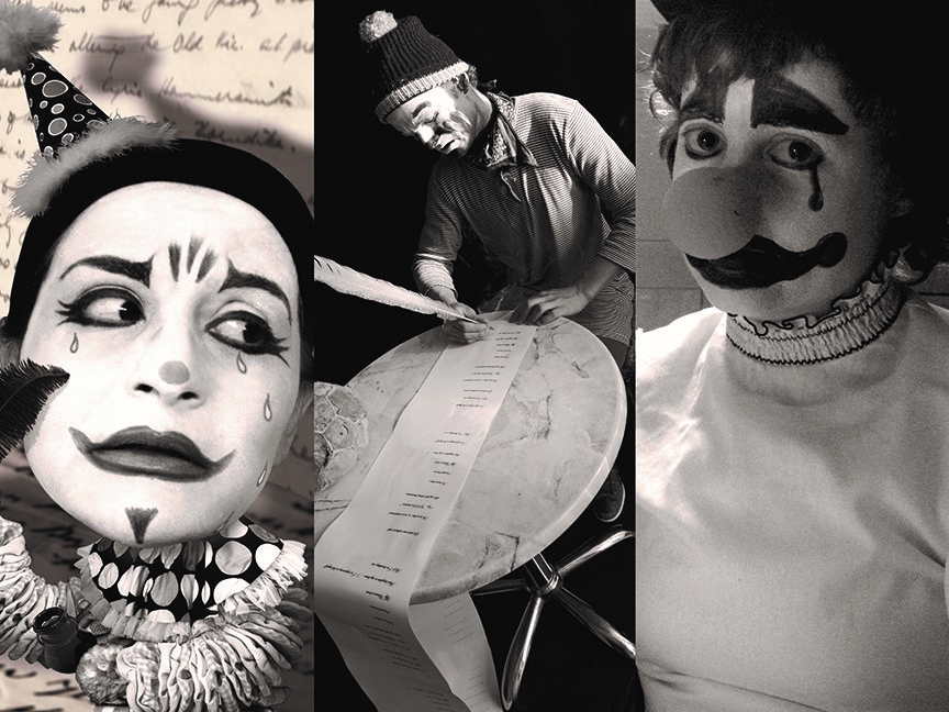 "Humberto: ""Lovesick Clown."" Photos by Lisa Barcy, Harry Bos, and Stephanie Barber"
