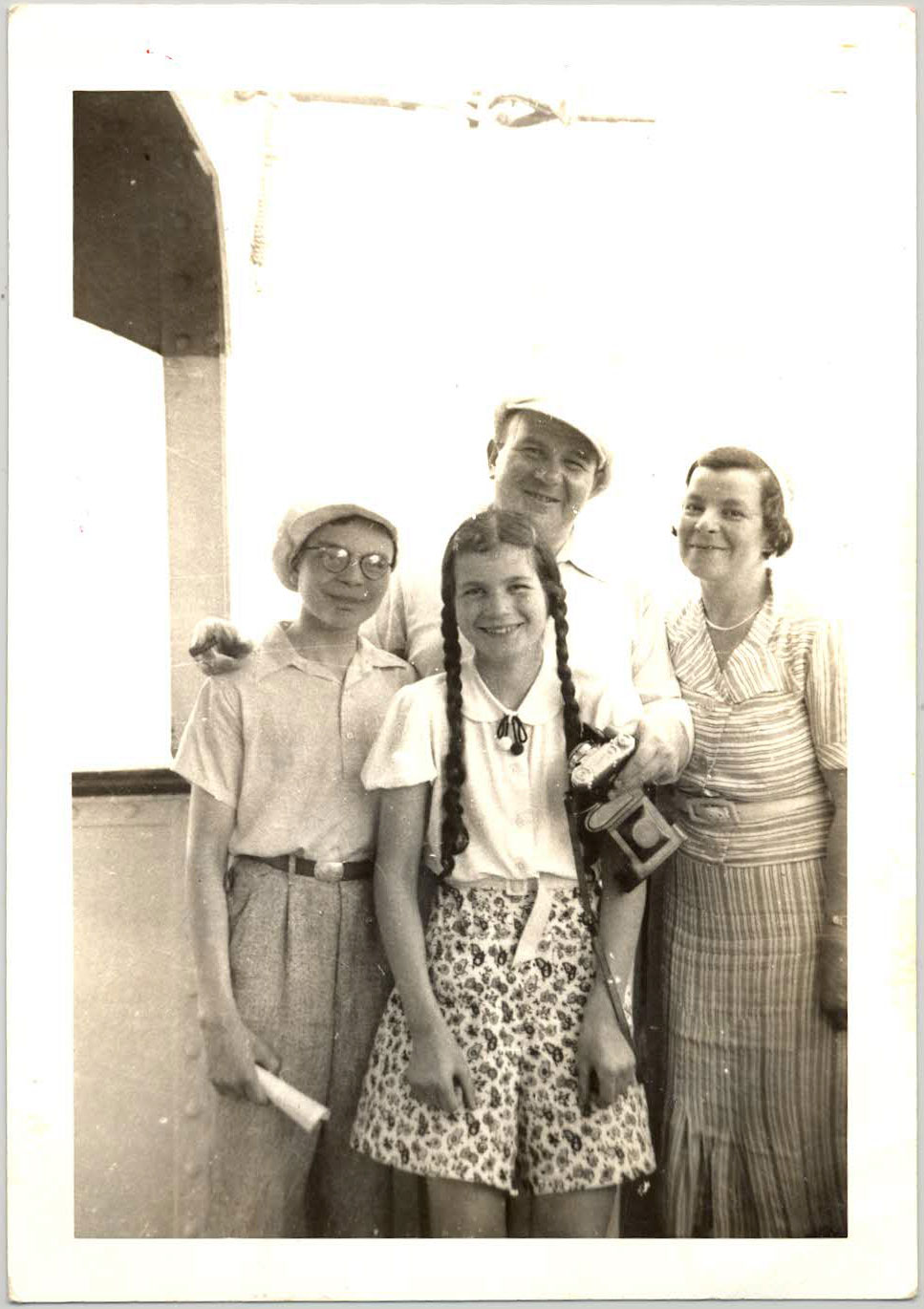 The Grunwald family (from left): Ernest, Lotte, Fred, and Trude. Courtesy of Peggy Cooper.