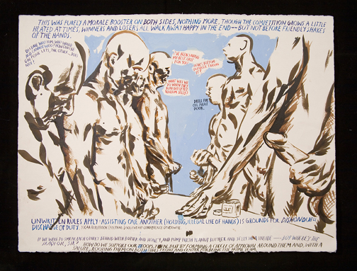 Raymond Pettibon, No Title (This was purely), 2006. Pen and ink drawing on paper. 22 1/2 x 30 in. (57.2 x 76.2 cm). Hammer Museum, Los Angeles. Purchase.