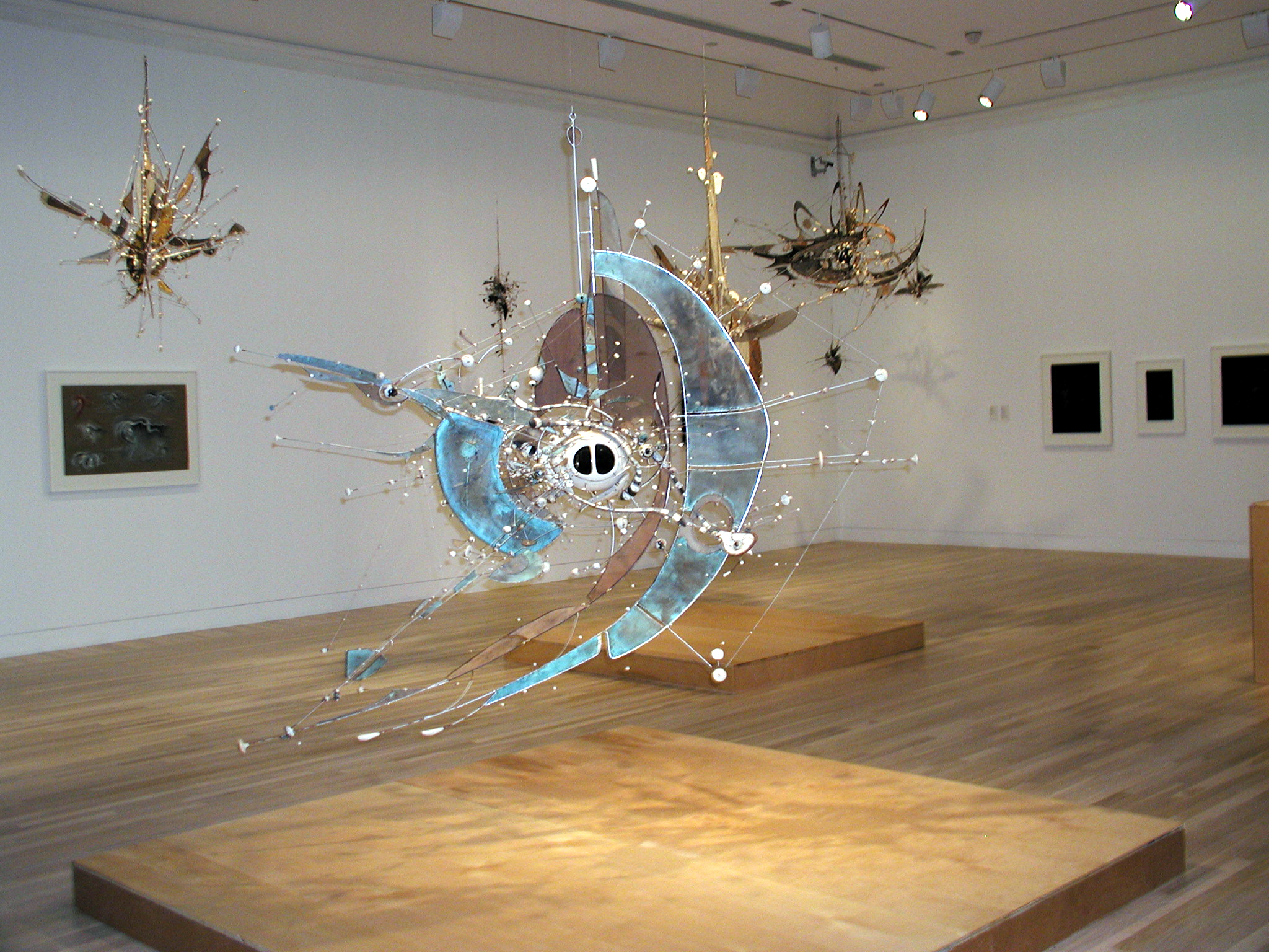 Lee Bontecou: A Retrospective. Installation view at Hammer Museum, Los Angeles. October 5, 2003-January 11, 2004.