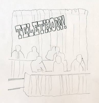 Sketch for Telethon by Jenn Kennedy and Liz Linden