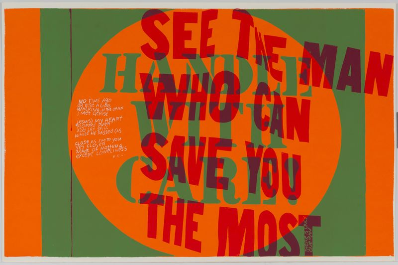 Corita Kent, handle with care, 1967