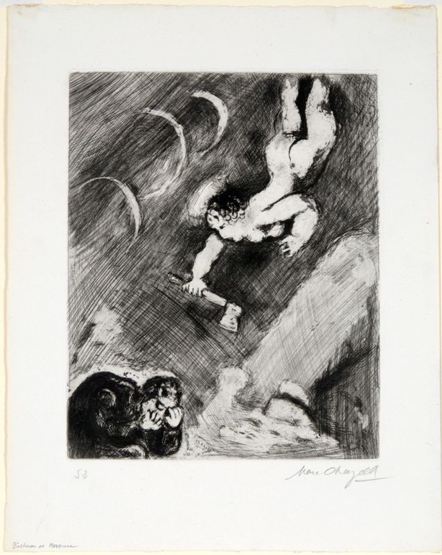 Marc Chagall, The Woodsman and Mercury, 1952