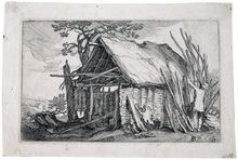 Abraham Bloemaert, Landscapes with Farmhouses #10, 1564-1651