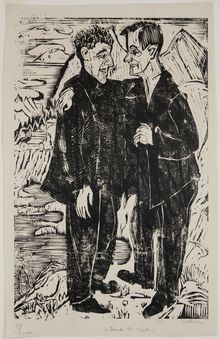 Ernst Ludwig Kirchner, The Friends: Müller and Scherer, 1924