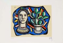 Fernand Léger, Head and Cactus, ca. 1955