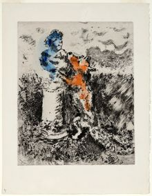 Marc Chagall, The Fox and the Sculpture, 1952