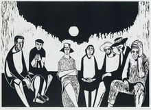 Migrants, by Samella Lewis, 1968