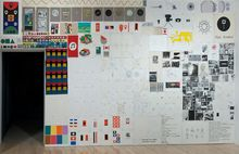 7 1/2 Bulletin Boards, by Matt Mullican, 2013