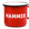 Hammer mug in red