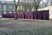 Deep Purple, by Tom Burr, installation view at FRAC Champagne Ardenne, 2000