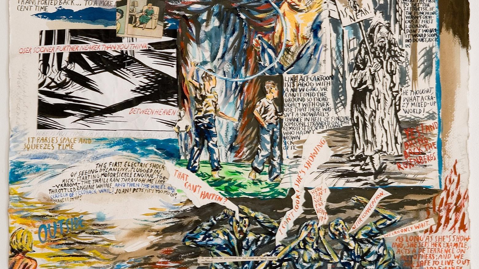 Raymond Pettibon, No Title (When I see), 2006. Pen and ink drawing on paper. 30 1/4 x 22 3/8 in. (76.8 x 56.8 cm). Hammer Museum, Los Angeles. Purchase.