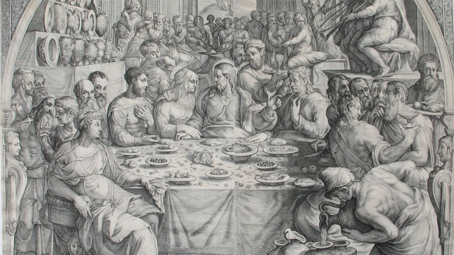 Hendrick Goltzius and Jacob Matham, The Marriage at Cana, ca. 1601