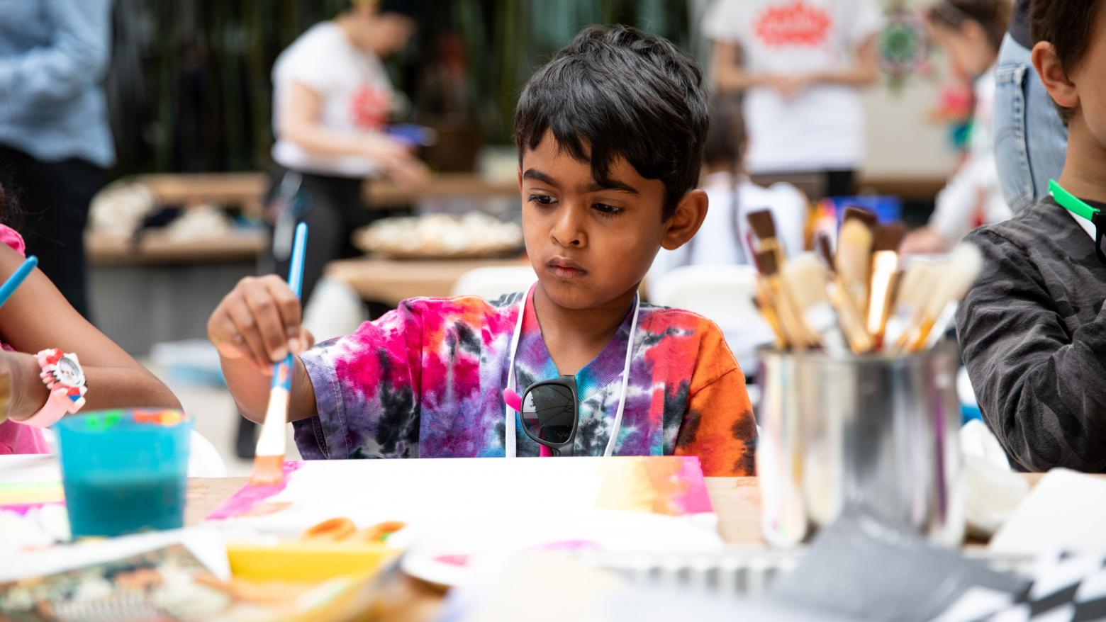 Kids workshop at the Hammer Museum