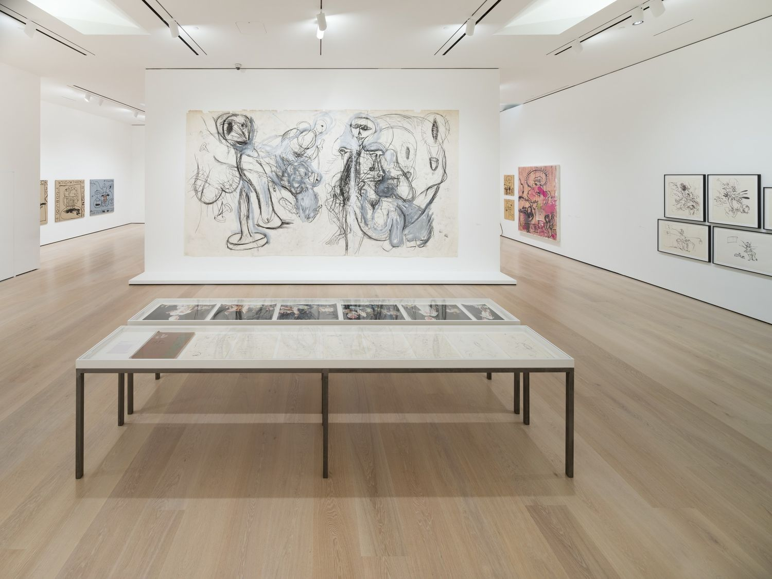 Installation view of 'Paul McCarthy: Head Space, Drawings 1963–2019' at the Hammer Museum