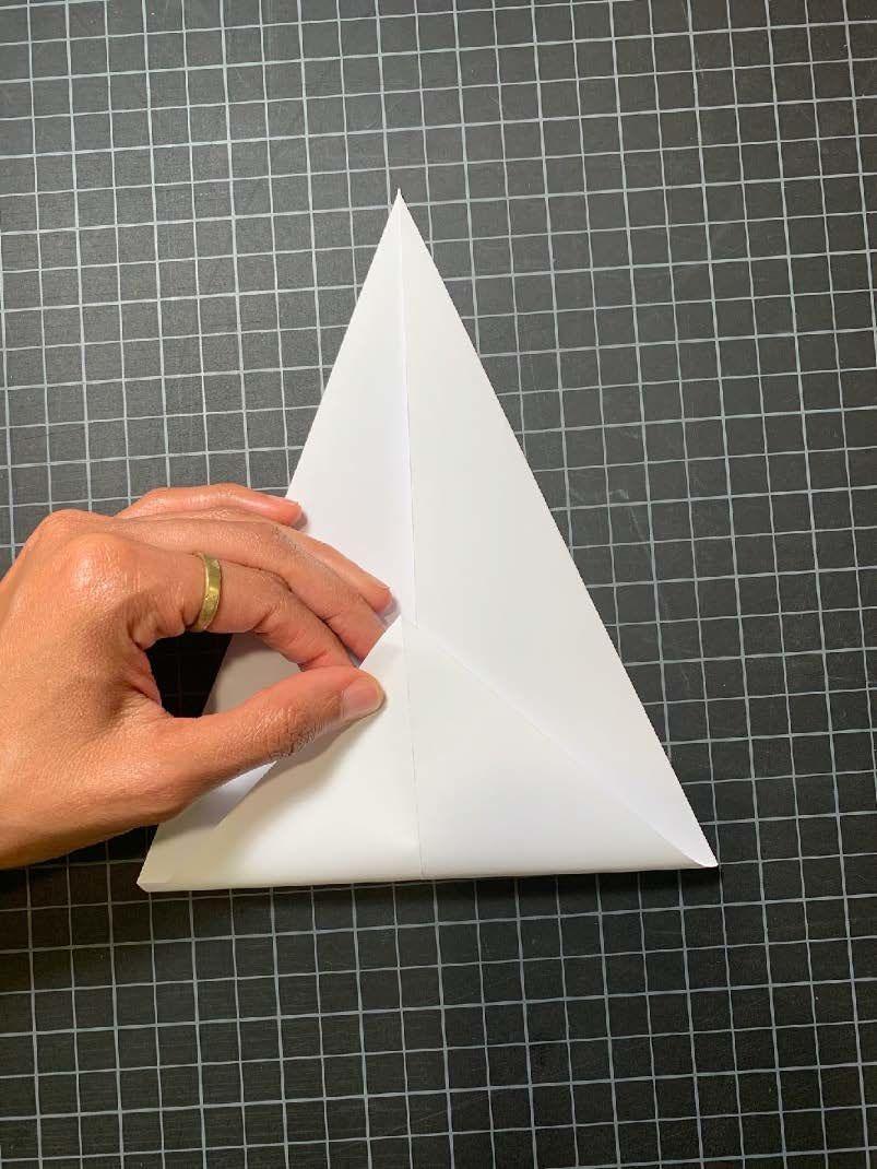 Final folds to create your triangle