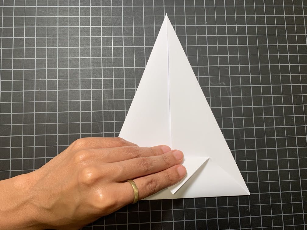 Adding creases to triangle