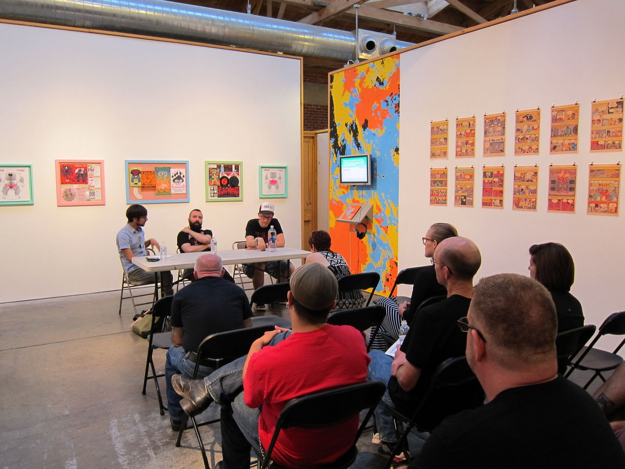 Do Anything artist talk with Ed Luce and Ed Piskor at Space 4 Art.
