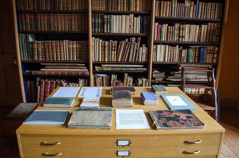 Second Pulp Atlas exhibition is installed in the Library at Hospitalfield House in Scotland
