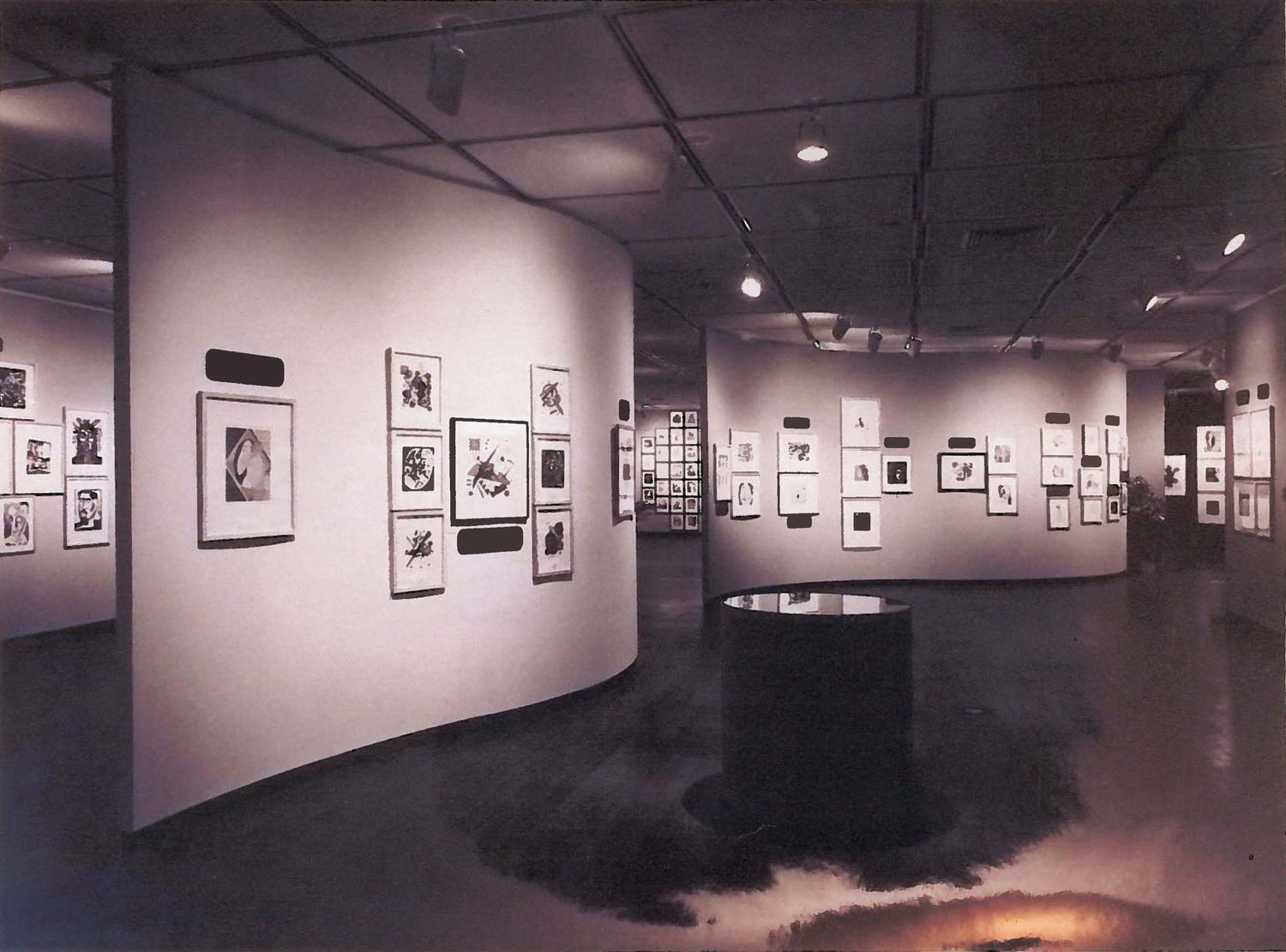 Installation view of The Fred Grunwald Collection: A Memorial Exhibition, Grunwald Graphic Arts Foundation, Dickson Art Center, UCLA, 1966