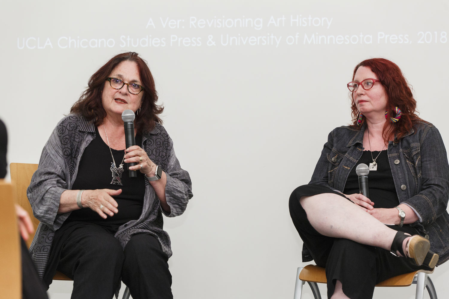 Judith Baca (left) and Anna Indych-López (right). Brooklyn Museum, June 16, 2018