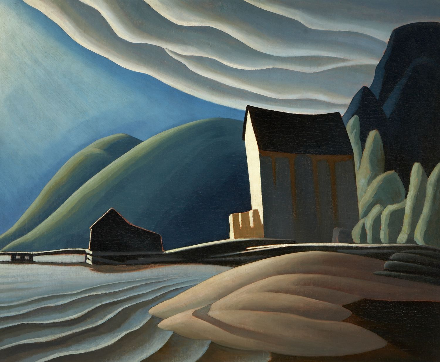 Lawren Harris, Ice House, Coldwell, Lake Superior, ca. 1923