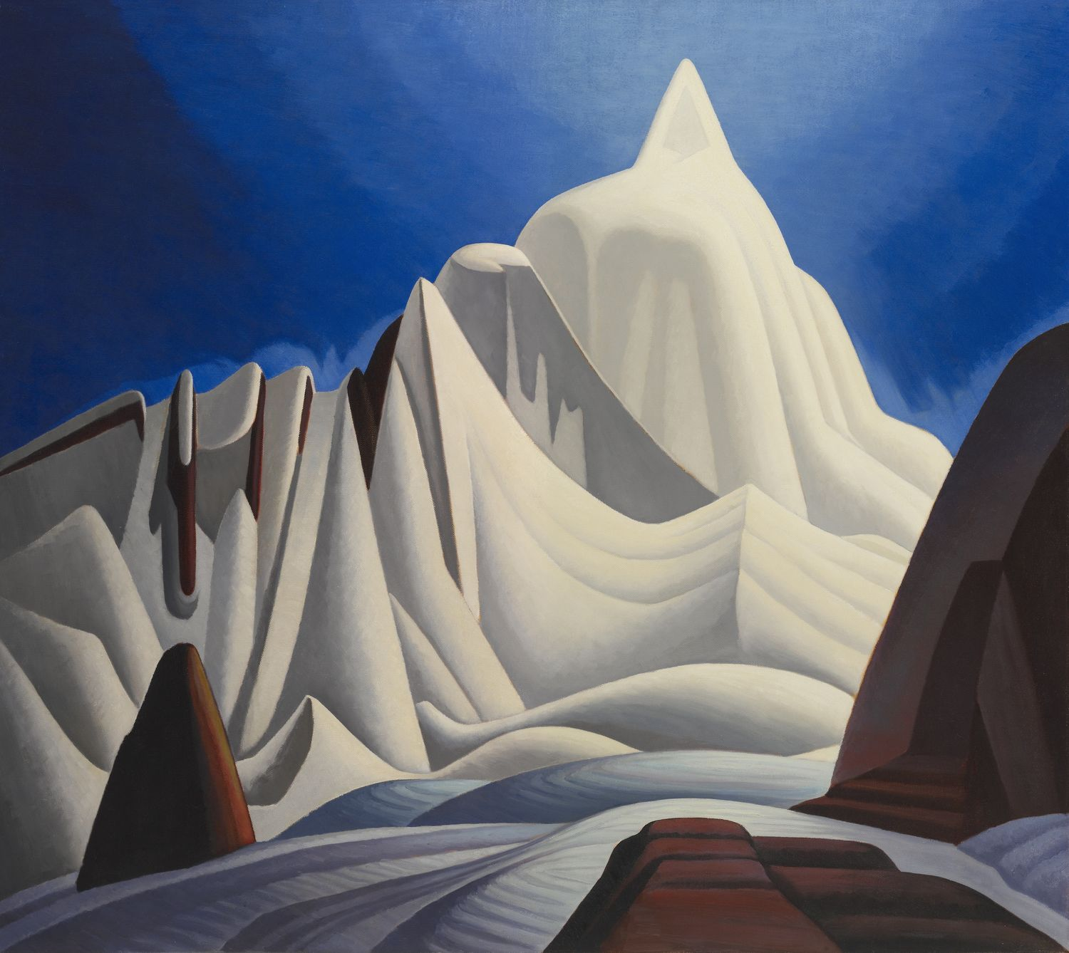 Mountains in Snow: Rocky Mountain Paintings VII