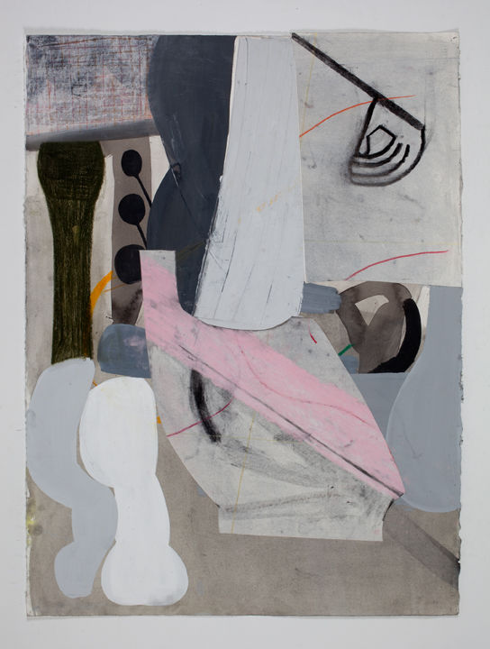Amy Sillman, A Shape that Stands Up and Listens #31, 2012