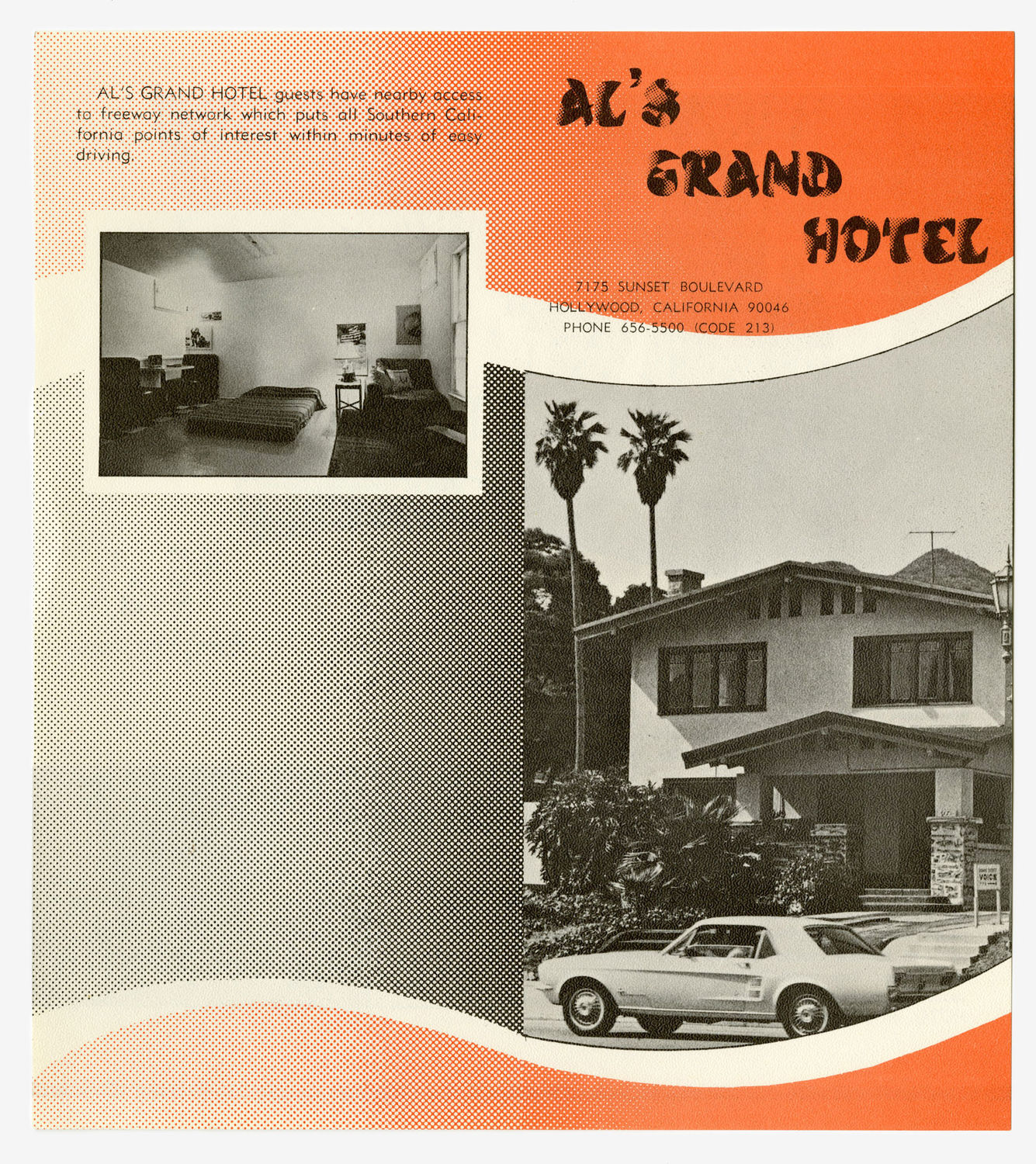 Allen Ruppersberg, Al's Grand Hotel, 1971. Environmental/Happening, first presented at 7175 Sunset Boulevard, Hollywood, California, May 7–June 12, 1971. Courtesy the artist; photo: Gene Pittman, Walker Art Center.