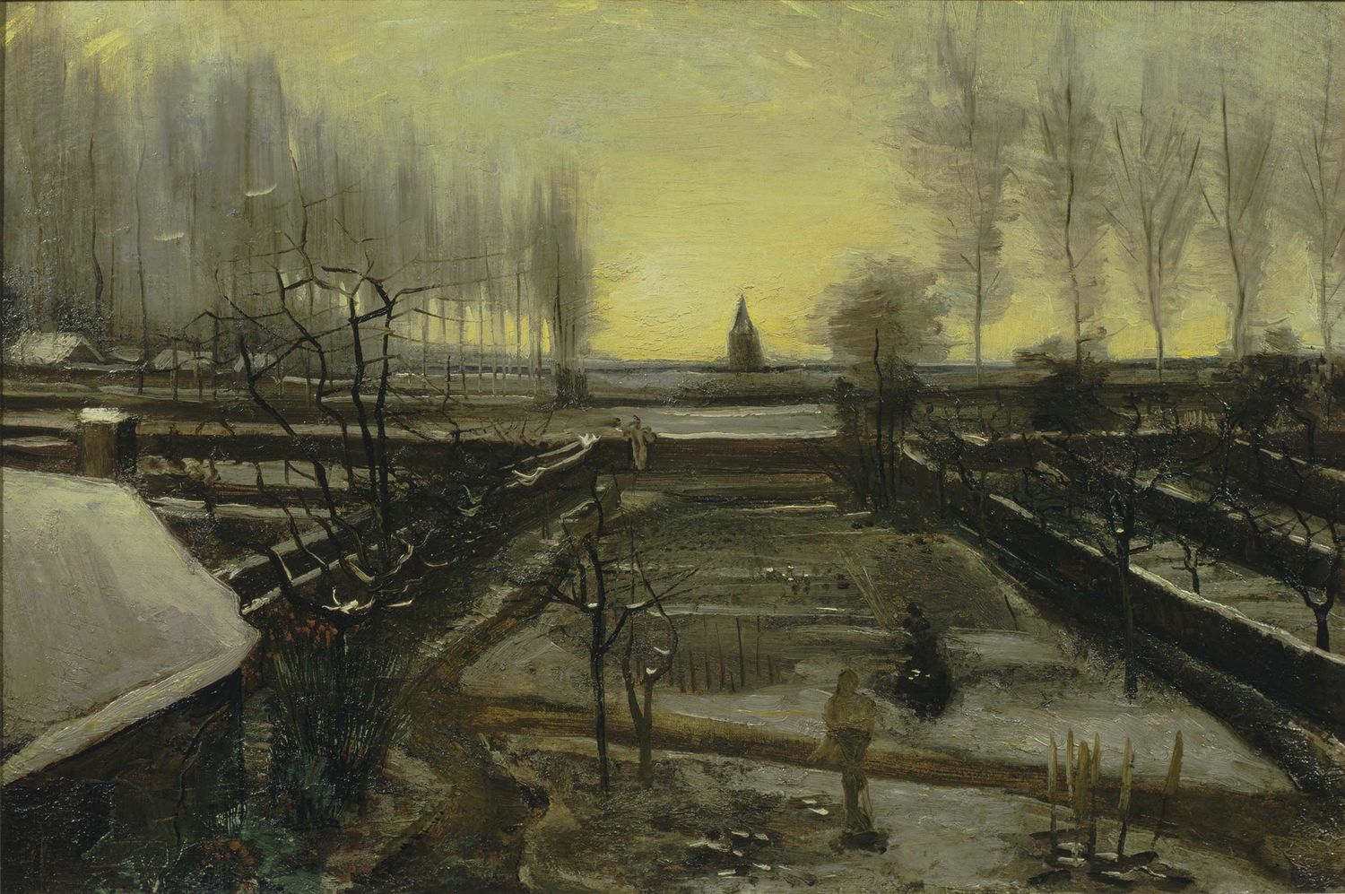 Vincent van Gogh, Garden of the Rectory at Nuenen, 1885. Oil on canvas, mounted on panel. The Armand Hammer Collection, Gift of the Armand Hammer Foundation. Hammer Museum, Los Angeles
