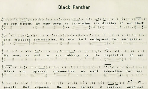 A musical score entitled 'Black Panther'