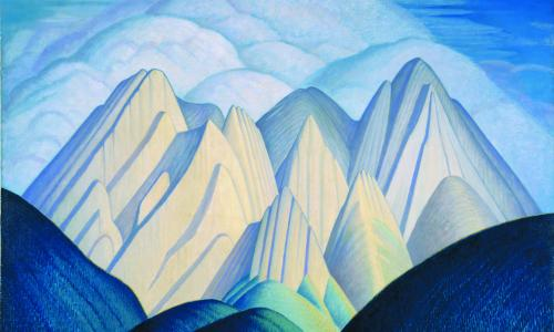 Untitled (Mountains Near Jasper)