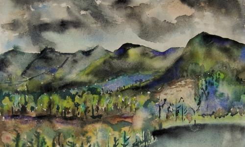 Joseph Fiore, Black Mountain, Lake Eden, 1954