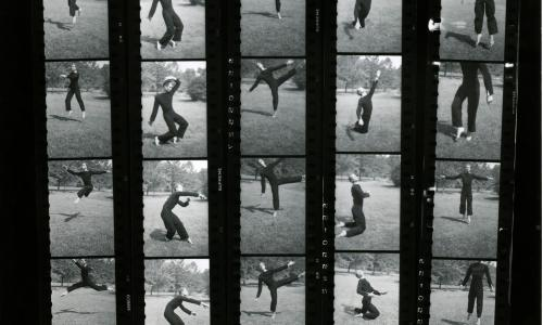 Hazel Larsen Archer, contact sheet of Merce Cunningham dancing, n.d.