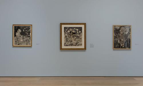 Dubuffet Drawings, 1935-1962, installation view, Hammer Museum, Los Angeles, January 29-April 30, 2017. Photo: Brian Forrest.