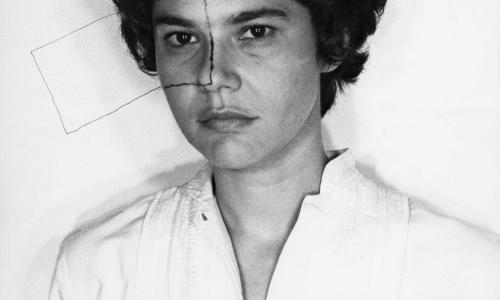 Liliana Porter (Argentine, b. 1941), Untitled (Self-portrait with square), 1973.