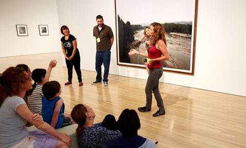 Improv in the Hammer Museum galleries